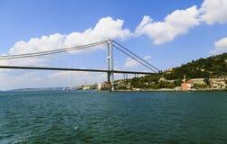 Vista del ponte di Bosphorus, Costantinopoli, Turchia Fotografie Stock