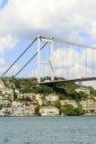 Vista del ponte di Bosphorus, Costantinopoli, Turchia Fotografia Stock Libera da Diritti