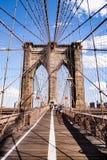 Vista del ponte di Brooklyn, NYC, U.S.A. fotografia stock libera da diritti