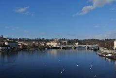 Vista del ponte di Charles Immagini Stock