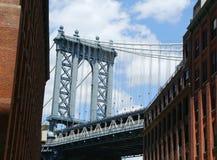 Vista del ponte di Manhattan Fotografia Stock