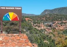 Vista del ponte di Midgley a Sedona, Arizona fotografia stock