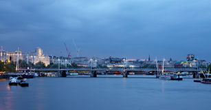 Vista del ponte a Londra Immagine Stock Libera da Diritti