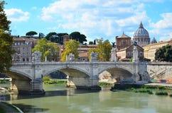 Vista del ponte a Roma Fotografia Stock