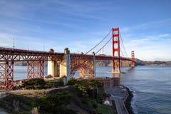 Vista del ponticello di cancello dorato San Francisco, California, U immagini stock libere da diritti