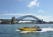 Vista del ponticello di porto di Sydney Fotografia Stock