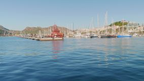 Vista del porticciolo di Cartagine il giorno soleggiato di autunno stock footage