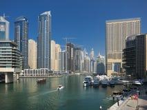 Vista del porticciolo e delle barche del Dubai Immagine Stock Libera da Diritti
