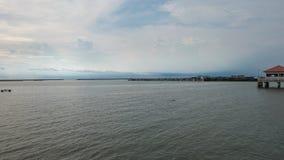 Vista del porto alla provincia di Chonburi fotografie stock libere da diritti