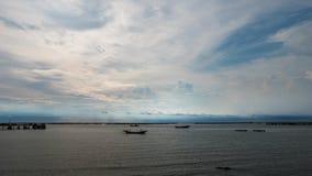 Vista del porto alla provincia di Chonburi immagine stock