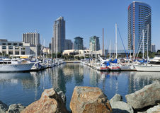 Vista del porto dell'yacht Fotografie Stock Libere da Diritti