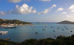 Vista del porto dell'yacht dal castello di Bluebeards Fotografia Stock