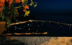 Vista del porto di Agropoli - Agropoli Harbour. Vista del porto di Agropoli, sera Stock Image