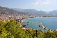 Vista del porto di Alanya immagini stock libere da diritti