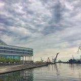 Vista del porto di costruzione Fotografia Stock