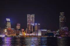 Vista del porto di Hong Kong Immagini Stock Libere da Diritti