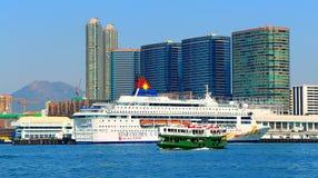 Vista del porto di Kowloon, Hong Kong Fotografie Stock