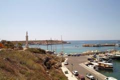 Vista del porto di Lampedusa Fotografie Stock Libere da Diritti
