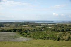 Vista del porto di Poole, Dorset, Regno Unito Fotografie Stock Libere da Diritti