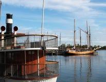 Vista del porto il giorno di estate Fotografie Stock Libere da Diritti