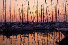 Vista del porto nel rovinj, croatia Fotografie Stock Libere da Diritti