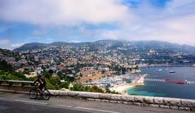 Vista del porto in Nizza, Francia Fotografia Stock Libera da Diritti