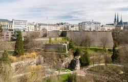 Vista del posto de la constitution - Lussemburgo Immagini Stock Libere da Diritti