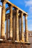 Vista del primo piano del tempio romano antico Fotografia Stock Libera da Diritti