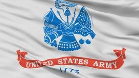Vista del primo piano della bandiera dell'esercito di Stati Uniti Illustrazione di Stock
