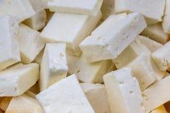 Vista del primo piano di Paneer o del formaggio immagini stock