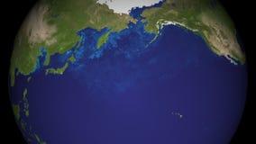 Vista del primo piano di rotazione del globo naturale del pianeta della terra Oggetto di filatura 3D Elementi di questo metraggio illustrazione vettoriale