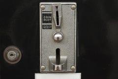 Vista del primo piano del distributore automatico fotografia stock libera da diritti