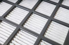 Vista del primo piano sul filtro dell'aria Concetto di filtrazione fotografie stock