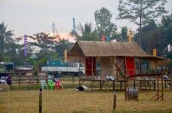 Vista del pueblo étnico tailandés del phu antiguo modelo Imagen de archivo