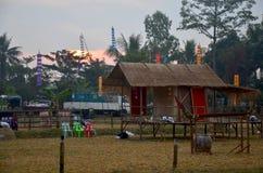 Vista del pueblo étnico tailandés del phu antiguo modelo Imágenes de archivo libres de regalías