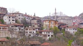 Vista del pueblo de Anatolia del otomano tradicional, Safranbolu, Turquía almacen de video