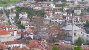 Vista del pueblo de Anatolia del otomano tradicional, Safranbolu, Turquía almacen de metraje de vídeo