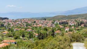 Vista del pueblo de Argalasti, Pelio, Grecia Fotos de archivo libres de regalías