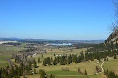 Vista del pueblo de Fussen Fotografía de archivo libre de regalías