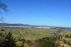 Vista del pueblo de Fussen Foto de archivo libre de regalías