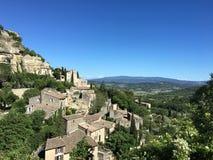 Vista del pueblo de Gordes Foto de archivo libre de regalías