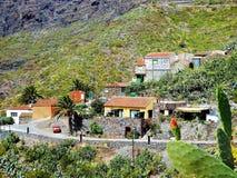 Vista del pueblo de montaña de Masca en la isla de Tenerife fotografía de archivo libre de regalías