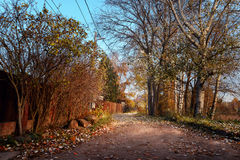 Vista del pueblo del campo en el otoño 2 Imágenes de archivo libres de regalías