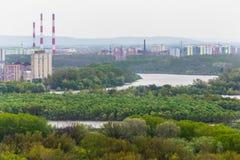 Vista del pueblo ruso Fotografía de archivo