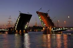 Vista del puente de las existencias abiertas Imágenes de archivo libres de regalías
