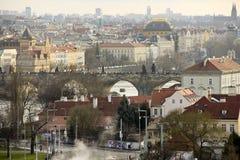 Vista del puente de Praga Foto de archivo