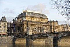 Vista del puente de Praga Fotos de archivo libres de regalías
