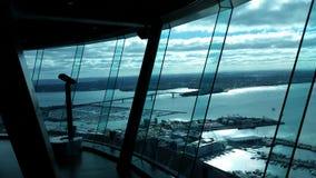 Vista del puente del puerto de Auckland Fotos de archivo libres de regalías