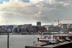 Vista del puerto Imagenes de archivo