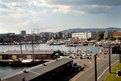 Vista del puerto Imágenes de archivo libres de regalías